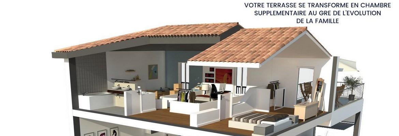 Aménagement de la terrasse en chambre - Domaine de la Tour Eyquem - Mérignac